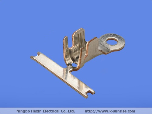 Stamping Part spring loaded electrical power socket brass contact