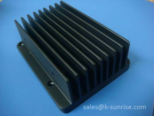 Aluminium heat sink for power amplifier