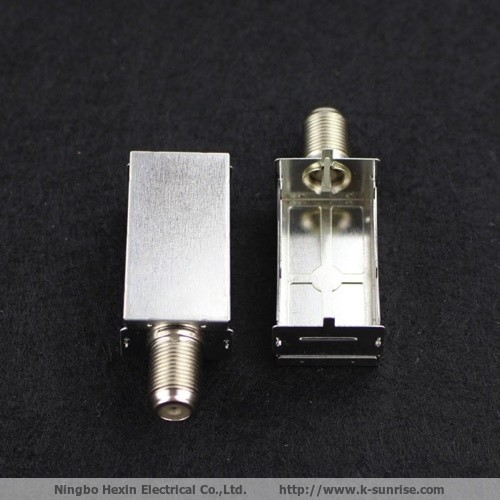 Customized F connector with shield frame