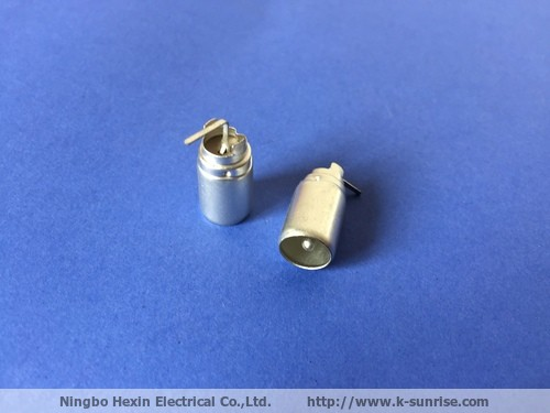 Male IEC connector for tv tuner and set top box