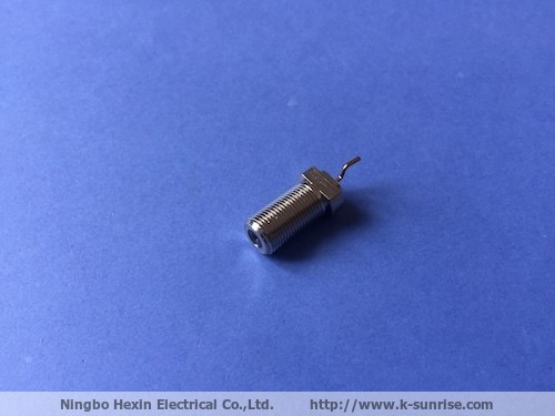 75OHM F type connector copper shell