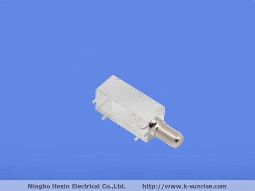 single F connector with shielding frame for CPE