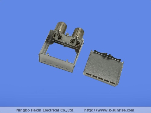 FTTH cpe shielding cover and frame with connector