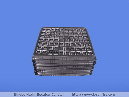 Tray packing RF shield cover