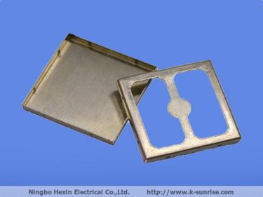 Two piece metal shielding cover